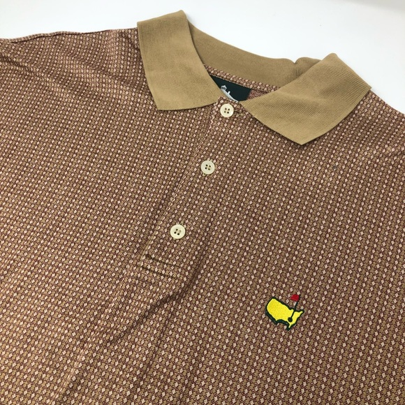 Masters Other - Masters Clubhouse Collection Geometric Polo Shirt